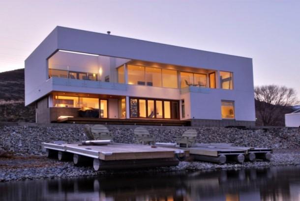 Modern huis container huis huis bouwen houten huis